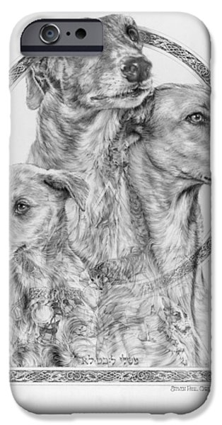 Greyhound iPhone Cases - Greyhound - The Ancient Breed of Nobility - A Legendary Hidden Creation series iPhone Case by Steven Paul Carlson