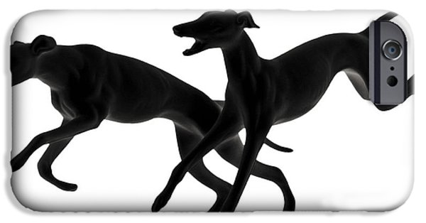 Christine Till iPhone Cases - Greyhounds travelling at 45 MPH iPhone Case by Christine Till
