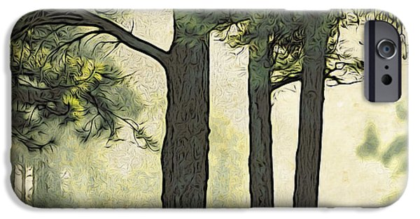 Eerie iPhone Cases - Grimms Forest  iPhone Case by Beauty For God