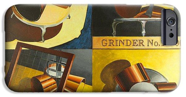 Disc iPhone Cases - Grinder 1 iPhone Case by Mark Howard Jones