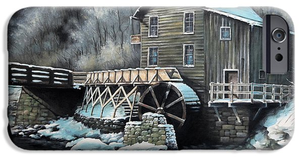 Grist Mill iPhone Cases - Grist Mill iPhone Case by Mike Worthen