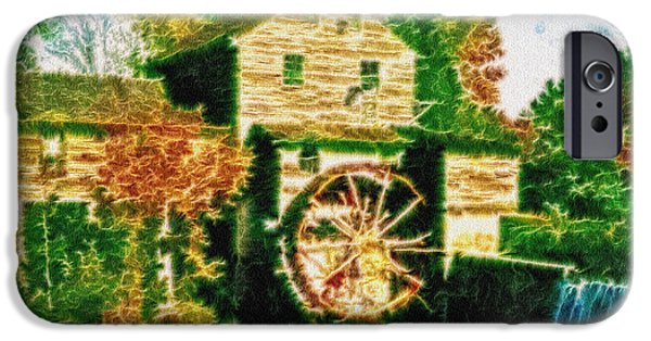 Grist Mill iPhone Cases - Grist Mill Tranquility iPhone Case by Mario Carini