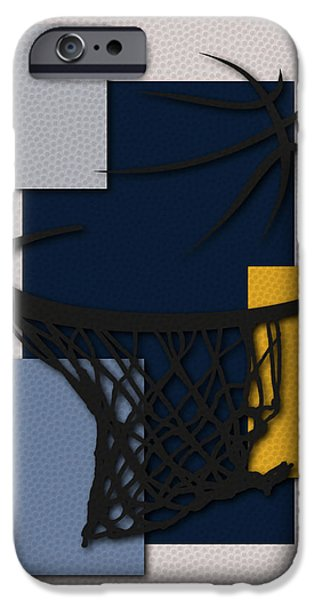 Grizzly iPhone Cases - Grizzlies Hoop iPhone Case by Joe Hamilton