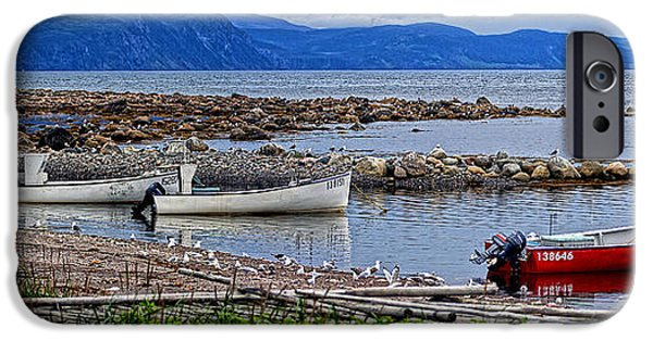 Shed iPhone Cases - Gros Morne Fishermans Cove iPhone Case by Robin Clarke
