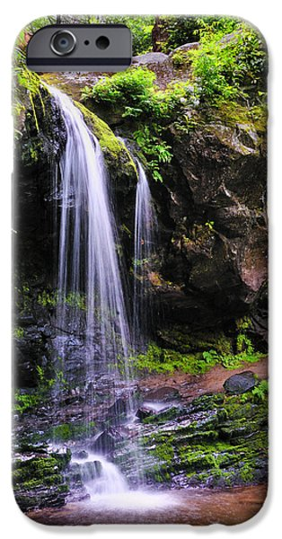 Nature Scene iPhone Cases - Grotto Falls iPhone Case by Thomas Schoeller