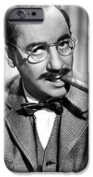 1940s Portraits iPhone Cases - Groucho Marx 1940s iPhone Case by Abc