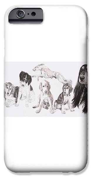 Growing Up Saluki iPhone Case by Barbara Keith