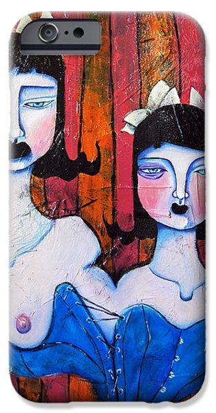 Bipolar Paintings iPhone Cases - Growth and Introspection iPhone Case by Ela Steel