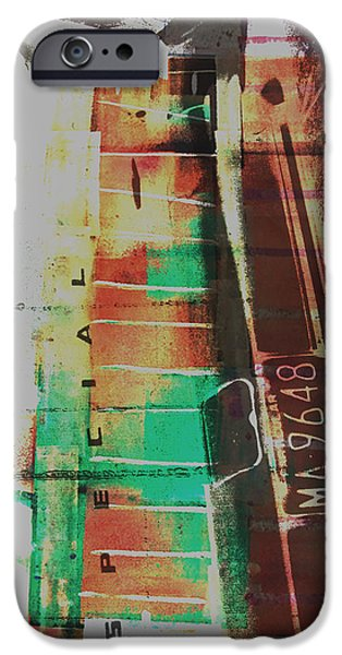 Abstract Fashion Art iPhone Cases - Grunge iPhone Case by David Studwell