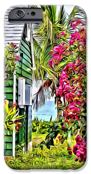 Bamboo Fence iPhone Cases - Guana Home iPhone Case by Anthony C Chen