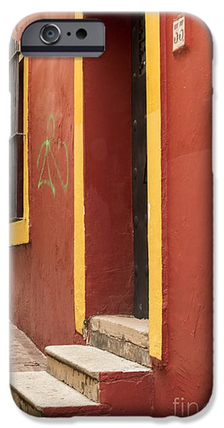 Alley Photographs iPhone Cases - Guanajuato Mexico Colorful Building iPhone Case by Juli Scalzi