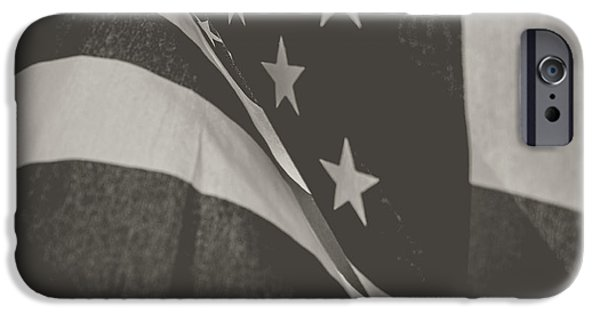 America Pyrography iPhone Cases - Guardian Flag iPhone Case by Matthew Goodman