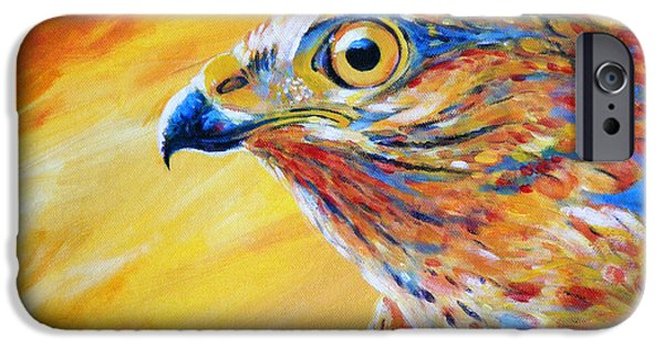 Spirit Hawk iPhone Cases - Guardian Spirit iPhone Case by Arie Van der Wijst