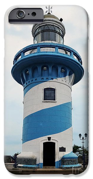 444 iPhone Cases - Guayaquil Lighthouse iPhone Case by Catherine Sherman