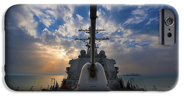 Lightweight iPhone Cases - Guided-missile Destroyer Uss Higgins iPhone Case by Stocktrek Images
