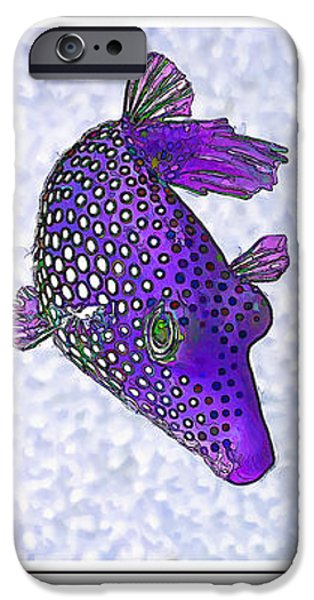 Guinea Fowl Puffer Fish Triptych iPhone Case by Bill Caldwell -        ABeautifulSky Photography