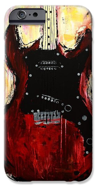 Modern Abstract iPhone Cases - Guitar 4 iPhone Case by Kayla Mallen