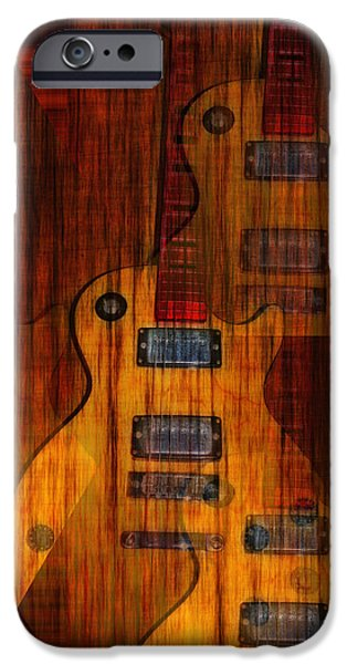 Fender Strat iPhone Cases - Guitar Army iPhone Case by Bill Cannon