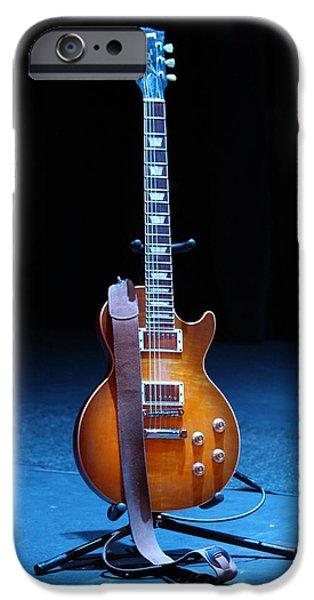 Guitar Blue iPhone Case by Lauri Novak