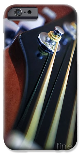 Mechanism iPhone Cases - Guitar Head Stock iPhone Case by Carlos Caetano