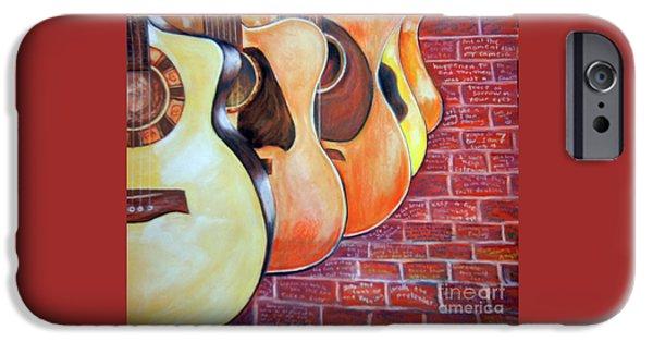Jackson Pastels iPhone Cases - Guitars iPhone Case by Deb Arndt
