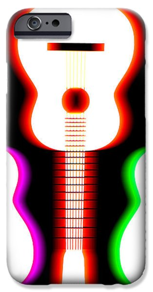 Guitars on Fire 5 iPhone Case by Andy Smy