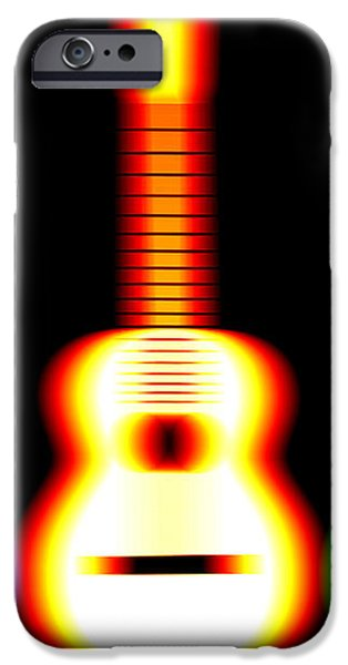 Guitars on Fire iPhone Case by Andy Smy
