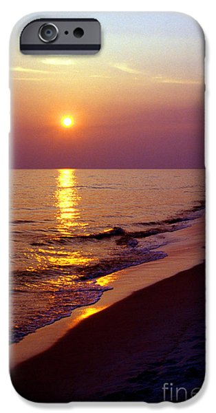 Florida Panhandle iPhone Cases - Gulf of Mexico Sunset iPhone Case by Thomas R Fletcher