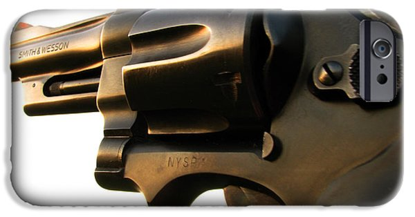 Photography Photographs iPhone Cases - Gun Series iPhone Case by Amanda Barcon