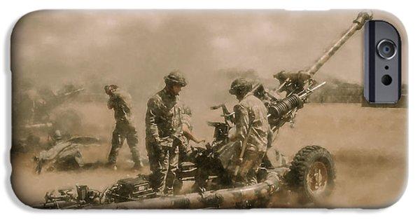 War iPhone Cases - Gunners 4 iPhone Case by Roy Pedersen