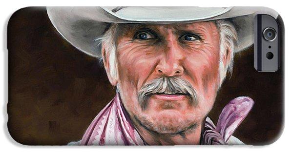 Guns iPhone Cases - Gus McCrae Texas Ranger iPhone Case by Rick McKinney