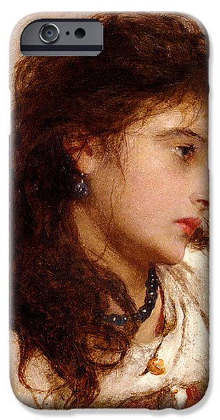 Gypsy Girl iPhone Case by George Elgar Hicks