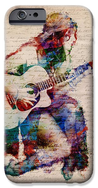 Romantic Digital iPhone Cases - Gypsy Serenade iPhone Case by Nikki Smith