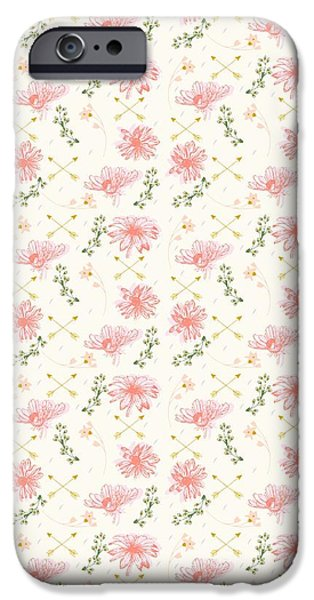 Botanical Drawings iPhone Cases - Gypsy Soul iPhone Case by Beth Travers