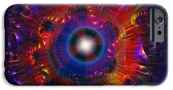 Abstract Digital Art iPhone Cases - Gyro Power iPhone Case by Mario Carini