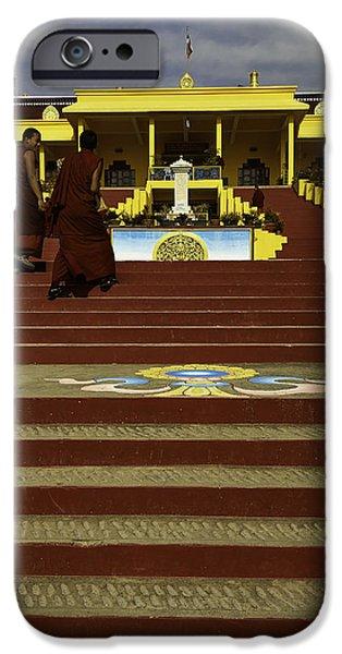 Tibetan Buddhism iPhone Cases - Gyuto Monastery iPhone Case by Rajiv Chopra