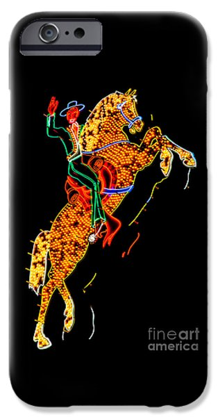 Lounging iPhone Cases - Hacienda Horse and Rider iPhone Case by Az Jackson