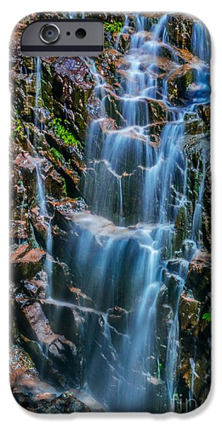 Maine iPhone Cases - Hadlock Falls in Acadia National Park iPhone Case by Claudia Mottram