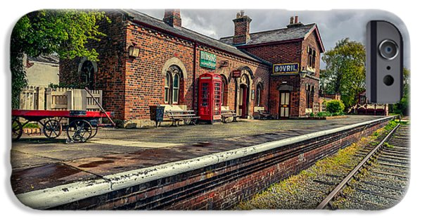 Luggage iPhone Cases - Hadlow Road Railway Station iPhone Case by Adrian Evans
