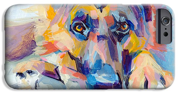 Pet Portraits iPhone Cases - Hagen iPhone Case by Kimberly Santini