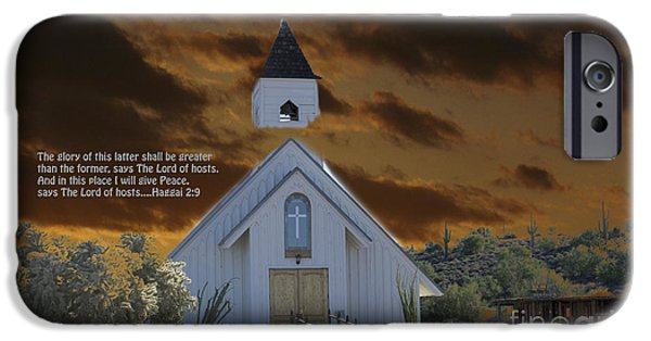 Old Glory iPhone Cases - Haggai 2  9 The glory of this latter temple iPhone Case by Beverly Guilliams