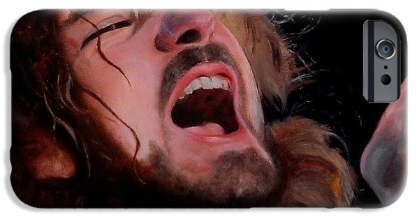 Pearl Jam Paintings iPhone Cases - Hail Hail iPhone Case by Jena Rockwood