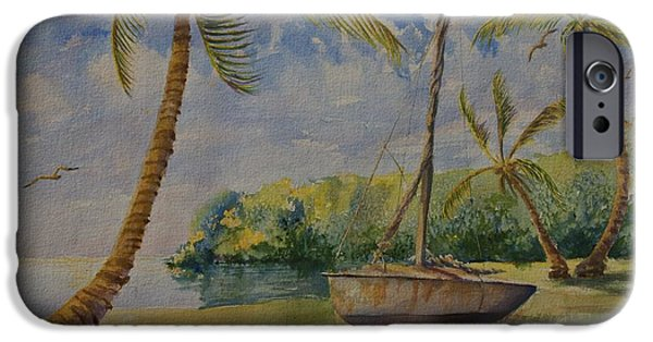 Boat iPhone Cases - Halcyon iPhone Case by AnnaJo Vahle