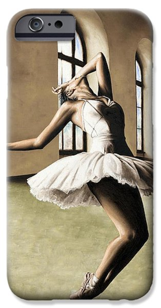 Ballerina Artwork iPhone Cases - Halcyon Ballerina iPhone Case by Richard Young