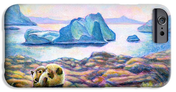 Virtual Paintings iPhone Cases - Half Hidden iPhone Case by Retta Stephenson
