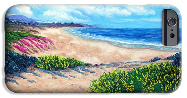 Half Moon Bay iPhone Cases - Half Moon Bay in Bloom iPhone Case by Laura Iverson
