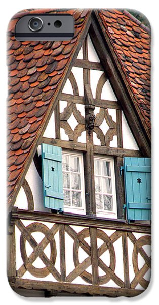 Old Barns iPhone Cases - Half-Timbered House iPhone Case by Jean Hall