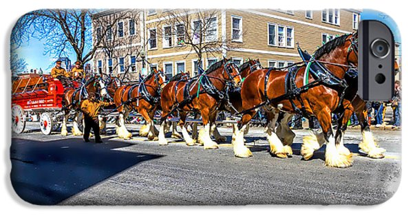 Boston Ma iPhone Cases - Hallamore Clydesdales iPhone Case by Larry  Richardson