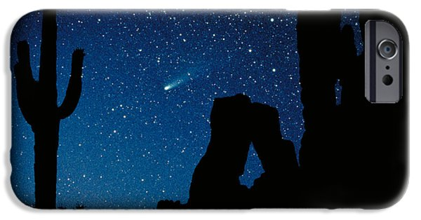 Composite iPhone Cases - Halleys Comet iPhone Case by Frank Zullo