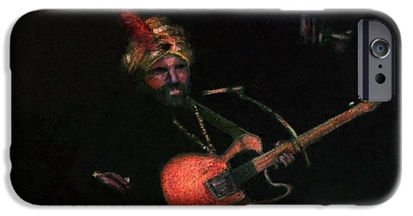 Celebrities Pastels iPhone Cases - Halloween Gig iPhone Case by Arline Wagner